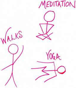 meditation walks yoga