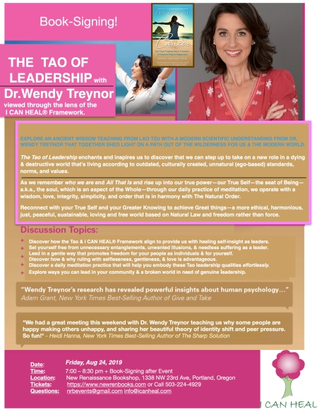 2019.08.24.FINAL FOR CLAIRE New Ren Flyer for TAO OF LEADERSHIP with Dr. Wendy Treynor copy