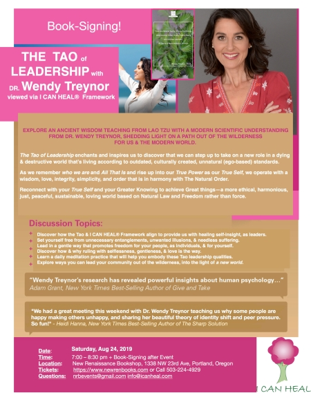 2019.07.02.FOR CLAIRE New Ren Flyer for TAO OF LEADERSHIP with Dr. Wendy Treynor